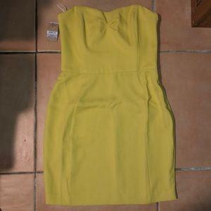 NWT Rachel Roy yellow strapless mini dress size 6